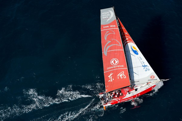October 3, 2014. Dongfeng Race Team during the  practice Race in Alicante.